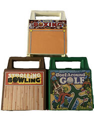 Vintage Strolling Bowling, Goof-around Golf, And Bumbling Boxing Games