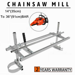 Chainsaw Mill 14-36 Chain Saw Mill Portable Log Planking Lumber Aluminum Steel