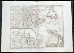 1755 1778 De Vaugondy Large Antique Map Of The Great Lakes America East Canada