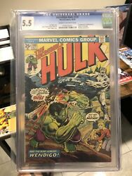 Incredible Hulk 180 Cgc 5.5 Cream To Off-white Pages. 1st Wolverine Cameo Mcu