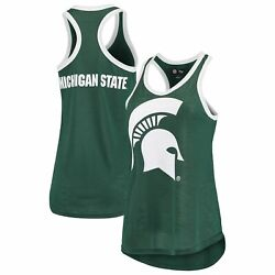 Michigan State Spartans G-iii 4her By Carl Banks Womenand039s Tater Two-hit Racerback