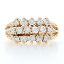 Yellow Gold Diamond Cluster Ring - 14k Round Brilliant Cut 1.00ctw Womenand039s