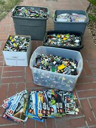 160 Lb Mixed Lego Legos Star Wars Minifigures Bionicles All 4 Children's Charity