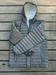 Columbia Titanium Outdry Down Hooded Puffer Jacket Size Medium Gray