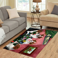 Home Of Brittany Spaniel Dogs Playing Poker Living Room Area Rug