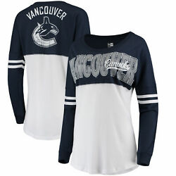 Vancouver Canucks 5th And Ocean By New Era Women's Baby Jersey Long Sleeve Crew