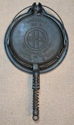 Griswold 8 Cast Iron American Waffle Cooker 314 315 And Base 915 Slant Logo Usa