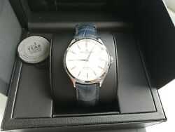 Baume Mercier Baumatic Gents Watch Brand New White Dial Blue Leather Strap