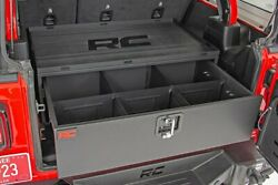 Rough Country Metal Storage Box W/slide Out Lockable Drawer For Jeep Wrangler Jl