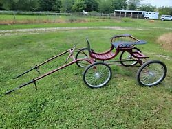 Genuine Jerald Pony Size Viceroy Horse Drawn Show Cart Very Nice Condition