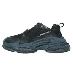 Balenciaga Triple Trainers Size 42 Ess Lace-up Sneakers Black 05