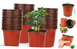 75 Pcs 4quot; Plastic Plant Nursery Seed Starting Pots for Succulent 4 Inches