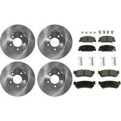 Brake Disc Brake Pad For 2004-2006 Suzuki Forenza Front And Rear Solid Fwd
