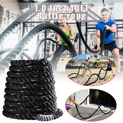 Polyester 40ft Battle Rope Exercise Workouts Strength Training Undulation 1 Inch