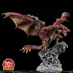 Monster Hunter World Red Sliver Dragon Statue Pvc Figure Collectible Model Toys