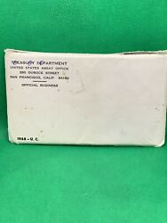 1968 P D And S Usa 10-coin Uncirculated Coin Us Mint Set Ogp And Envelope Nr