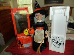 Vintage Original Telco Motionette Halloween Witch 24andrdquo Tall With Box