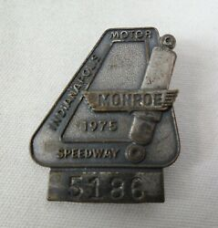 1975 Indianapolis 500 Silver Pit Badge Bobby Unser Gurney Eagle American Racers