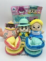 Disney Parks Alice In Wonderland Mad Tea Party Wishables 5 Plush With 2 Variants