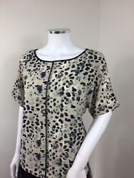 Marks And Spencer Top 10 Leopard Print Box Fit Work Career Wear Animal Blouse