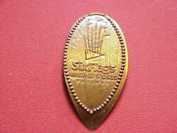 Six Flags Marine World Valledo .on Old Copper Elongated Cent B1613