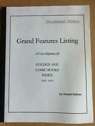 Golden Age Comic Books Index + Features Listing By Howard Keltner - Revised Ed.