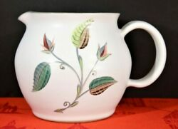 Denby Langley Spring 32 Oz. 2 Pint Jug Or Pitcher England A. College Exc