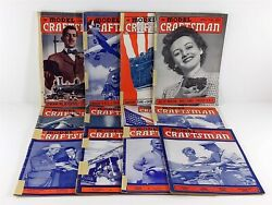 The Model Craftsman Magazine 1942 Lot 12 Issues Complete Year Trains, Airplanes
