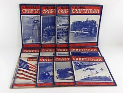 The Model Craftsman Magazine 1943 Lot 12 Issues Complete Year Trains, Airplanes