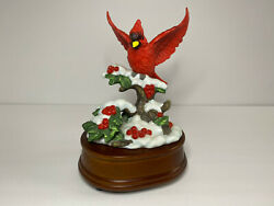 San Francisco Music Box Christmas Cardinal In Winter Snow And039as Time Goes Byand039