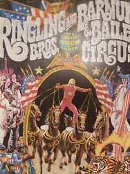Vintage 1975 Ringling Bros. And Barnum And Bailey Circus Magazine/ Pull Out Poster
