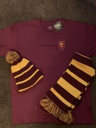 Harry Potter Cursed Child Gryffindor T-shirt, Scarf And Hat - Adult Large
