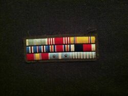 Us Army Enlisted Embroidered Ribbon Commendation Medal Bar Ww2 Korean War