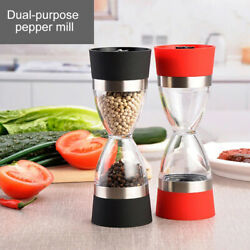 Manual Bbq Salt Pepper Mill Dual Grinder 2 In 1 Core Portable Kitchen Grind Tool