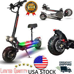 Electric Scooter Dual Motor Adult 11inch Off Road Tires Fast Speed 60v 5600w Us