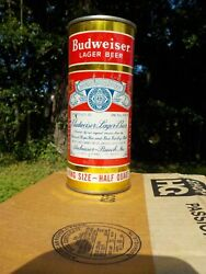 16 Oz Budweiser At Los Angeles California Gold Flat Top Old Beer Can Half Quart