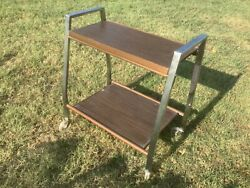 Vintage Mid Century Modern Rolling Television Tv Cart Stand