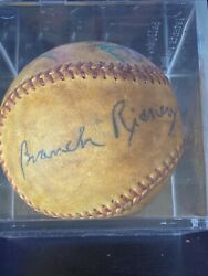 Branch Rickey Signed Baseball Hof Manager + Several Other Signatures