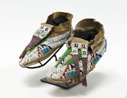 Northern Plains Young Adult Sized Moccasins Possibly Sioux