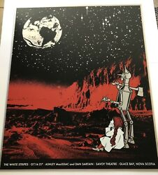 Rob Jones 2007 The White Stripes Glace Bay Ns S/n Metal Concert Poster Le/ 175