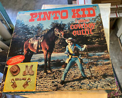 Vintage Hubley Pinto Kid Seven Piece Cowboy Outfit Box Only