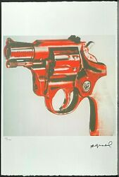 Andy Warhol Gun Signed Lithograph Limited 79/100
