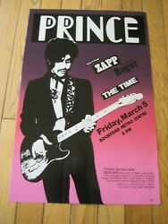 1982 Controversy Tour Live Original Poster From 80s Very Rare