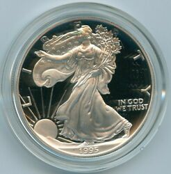 1995 P Ase American Silver Eagle Proof 1 Oz .999 1 Dollar Us Mint
