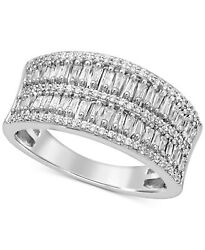 1/2 Cttw Diamond Baguette And Round Band Ring In 14k White Gold Christmas Special