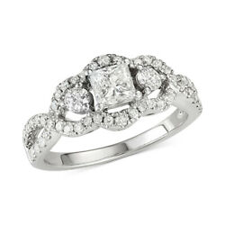1-1/4 Cttw Diamond Princess Engagement Ring In 14k White Gold Christmas Special