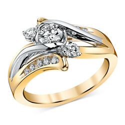 5/8 Ct Diamond Engagement Ring In 14k Gold And White Gold For Christmas Special