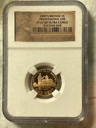 2009 S Bronze Professional Penny Pf Red Ultra Cameo Finish Graded By Ngc Nu