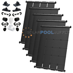Swimjoy Industrial Grade Diy Solar Pool Heater Kit 150 Square Feet [5-4and039x7.5and039]