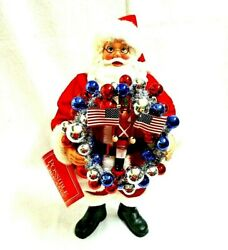 Red White And Blue Santa Possible Dreams Clothtique Dept. 56 Collectible